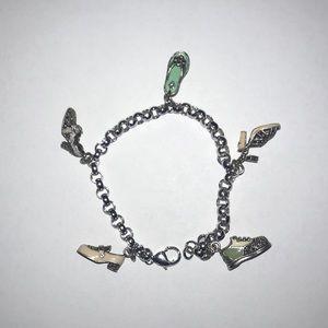 Judith Jack sterling silver shoe charm bracelet